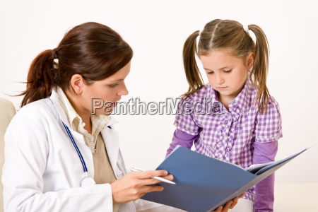 female doctor with child at medical