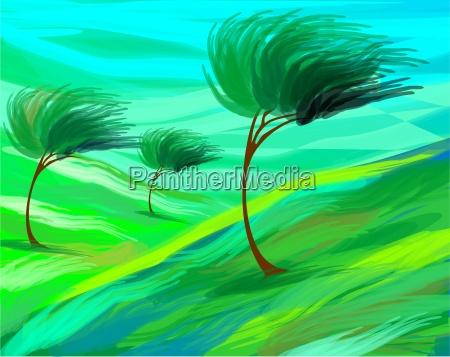 baum brise wind