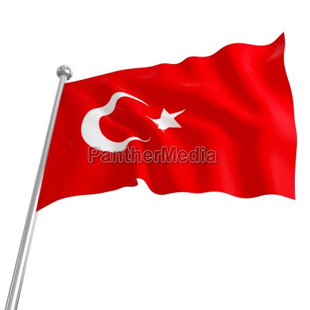 flagge der tuerkei