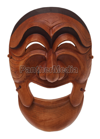 korean wooden mask