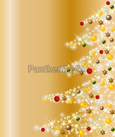 bunter funkelnder weihnachtsbaum