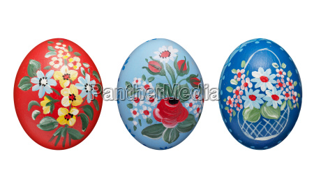 painted easter egg with hand