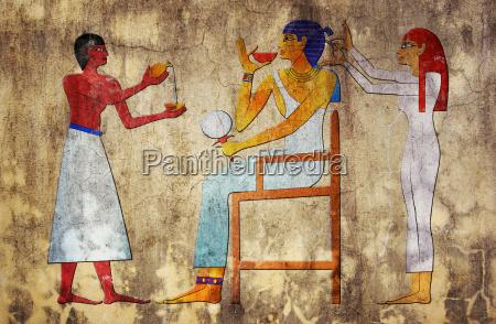 friseur des alten aegypten