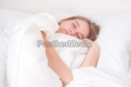 weiblich teen bett person schlaf schlafen
