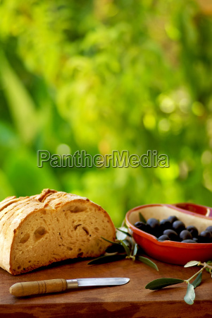 olives and bread