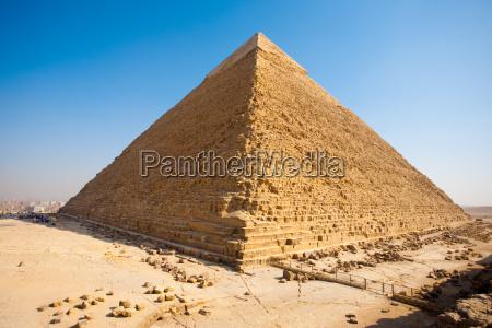 pyramide khafre rueck gizeh