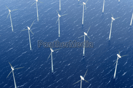 wind turbines in the water offshore