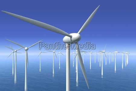 windkraftraeder im wasser offshorepark