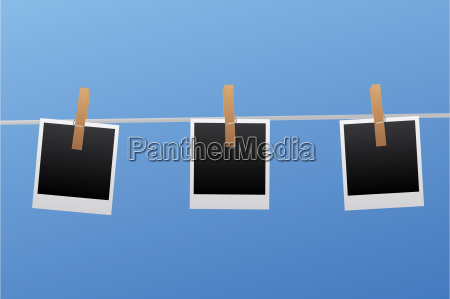 pictures on clothesline