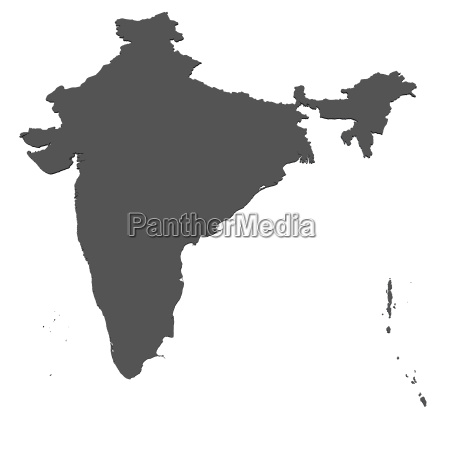 map of india isolated