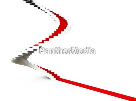 roter teppich treppe des erfolges