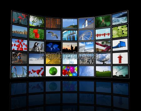 wall of tv flachbildschirme