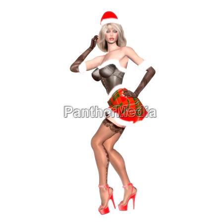 christmas pinup elf cleo