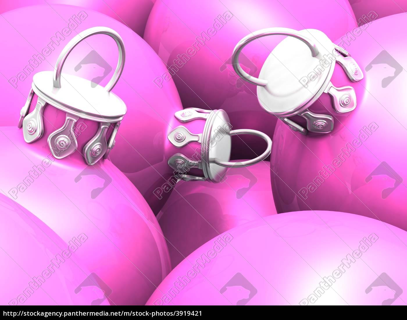 Weihnachtskugeln Pink.Lizenzfreies Bild 3919421 Weihnachtskugeln 02 Pastell Pink