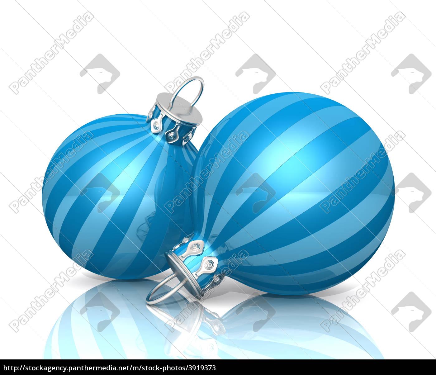 Weihnachtskugeln Blau.Lizenzfreies Bild 3919373 Weihnachtskugeln Blau Gestreift 01