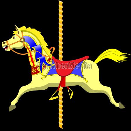 pferd ross karussell karrussel