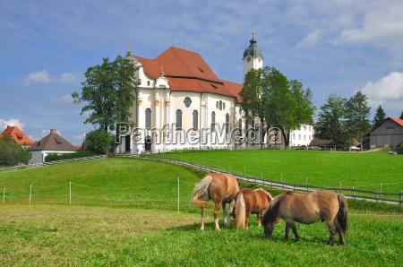 at the wieskirche near steingaden