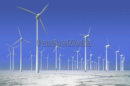 windkraftraeder im eis offshorepark