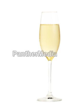 kaltes glas mit champagner