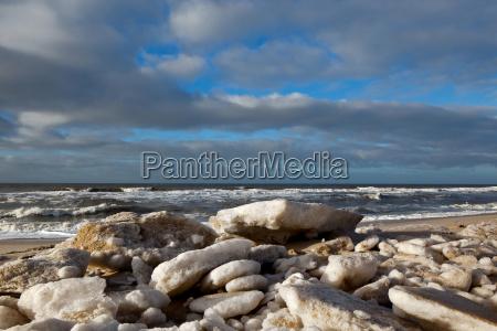 ice floes on the beach