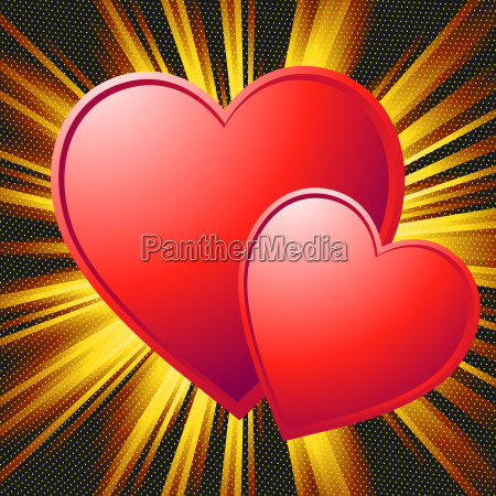 two hearts valentine