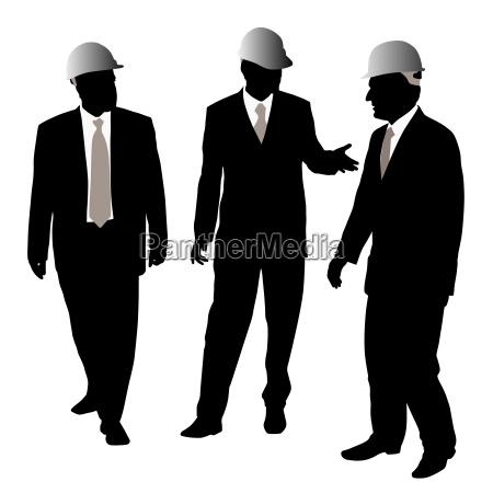 businessmen with protective helmet