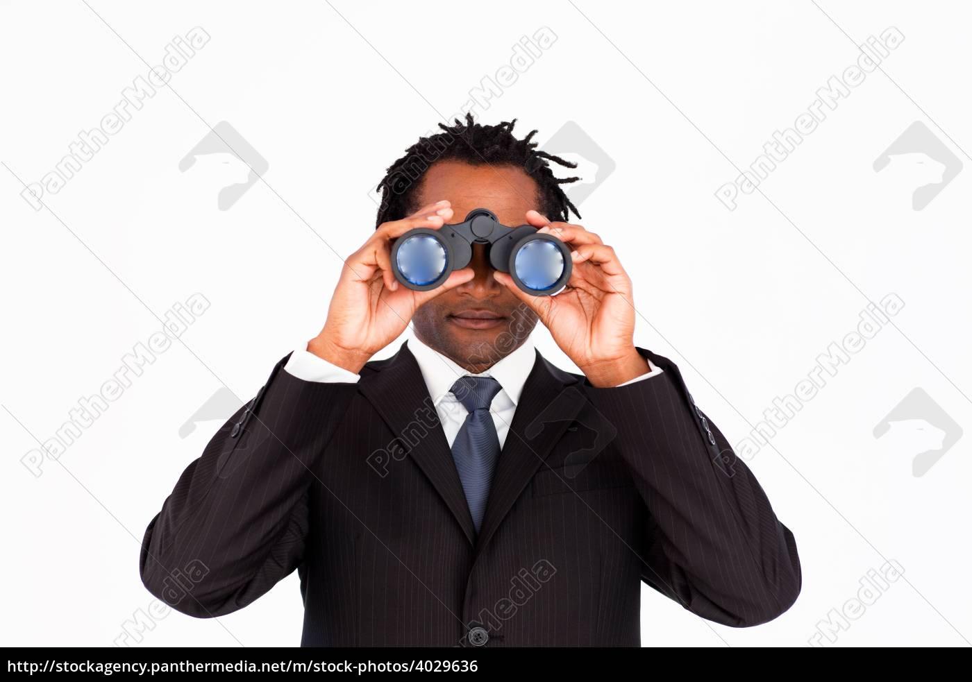 Geschäftsmann er sucht sie