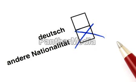 deutsch oder auslaender