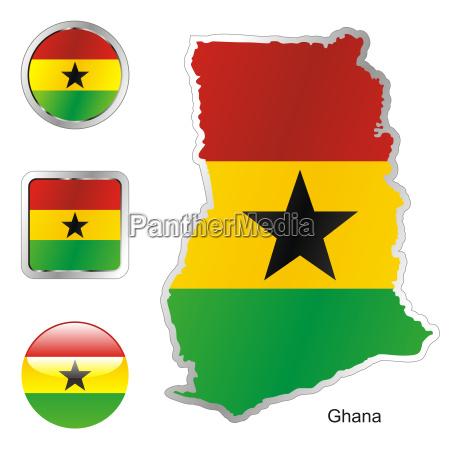 ghana karte und internet tasten