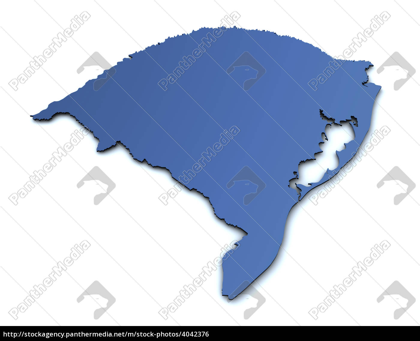 Lizenzfreies Foto 4042376 - Karte von Rio Grande do Sul Brasilien