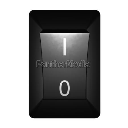 black switch turn the power