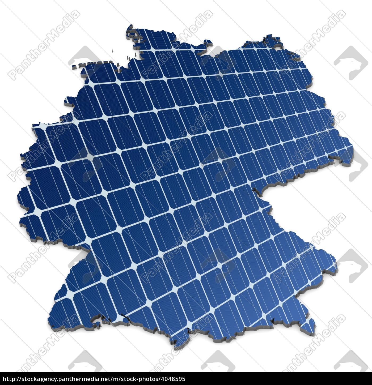 monokristalline, solarzellen, in, abstrakter, deutschlandkarte - 4048595