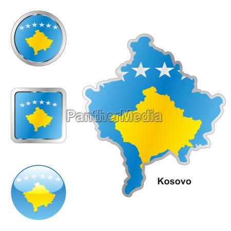 kosovo karte und internet tasten