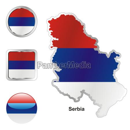 europa illustration fahne flagge knopf button