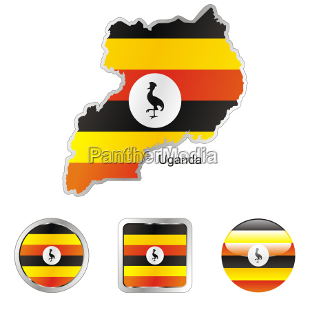 afrika illustration fahne flagge knopf button