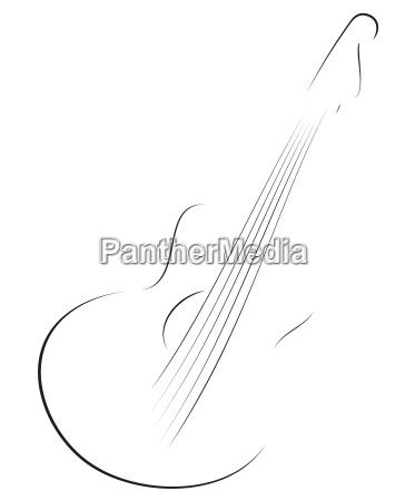 guitar sketch
