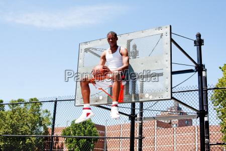 sport ball korb basketball korbball spieler