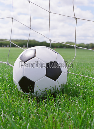 soccer ball on the pitch field