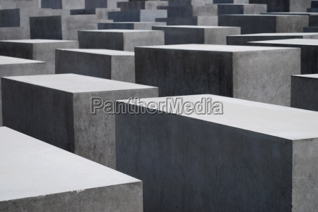 grey concrete blocks of the holocaust