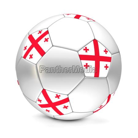 ball fahne georgien flagge transparent flag