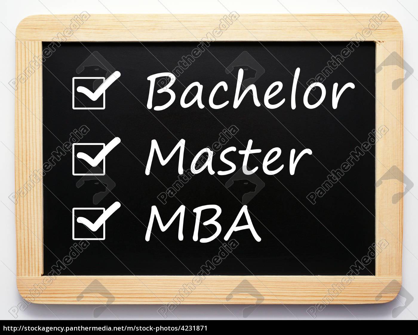 Bachelor Master MBA - Career Concept - Lizenzfreies Bild - #4231871 ...
