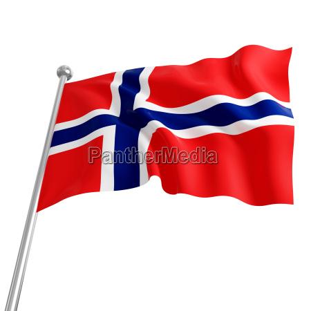 flagge von norwegen 3d modell auf