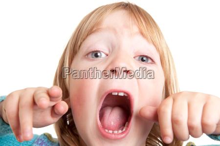 schreien kind schreien isoliert
