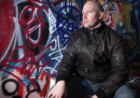 mann graffiti urban attitude