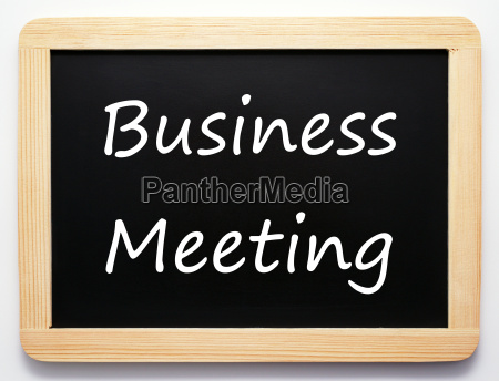business meeting concept sign