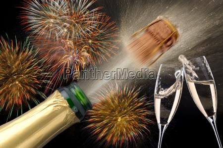 champagne celebration new year