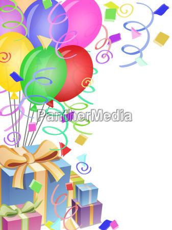 ballons mit konfetti fuer geburtstagsparty oder