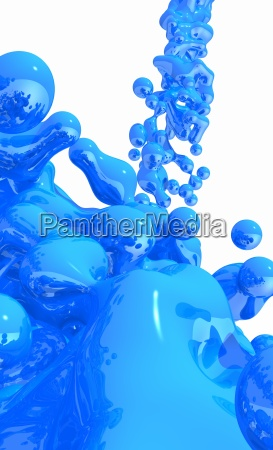blue liquid on white background