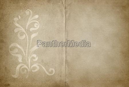 parchment with floral design