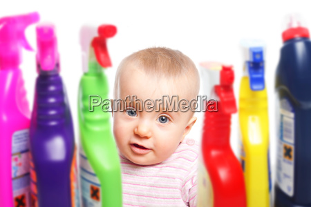 toddler and hazardous cleaners